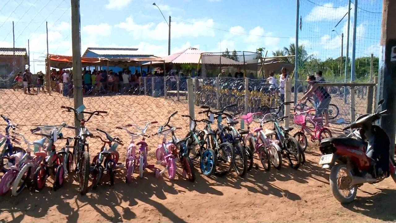 doação bicicletas crianças linhares es