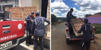 Bombeiros pagam aluguel e conseguem doações para família que perdeu tudo em incêndio