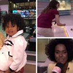 Maju Coutinho encontra menina que se identificou com ela na TV: 'É meu cabelo aqui' 2