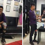 Jovem perna caseira ganha prótese