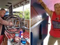 voluntário ganha máquina após reformar cadeiras de rodas graça