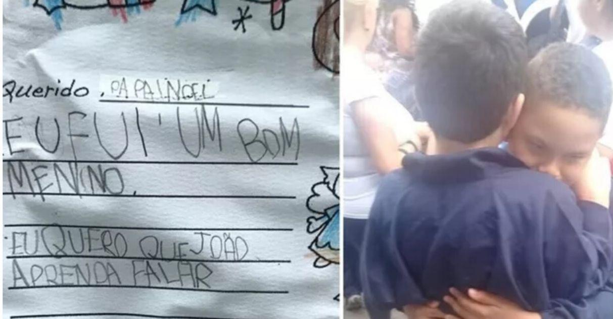 menino autista pede papai noel amigo falar