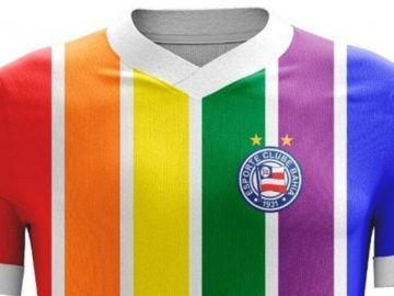 torcedores bahia camisa clube cores lgbt