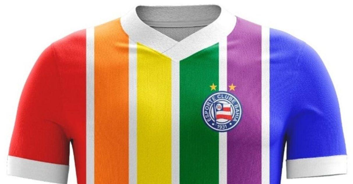 torcedores bahia camisa clube cores lgbt