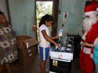 cartinha natal menina ganha fogão para mãe