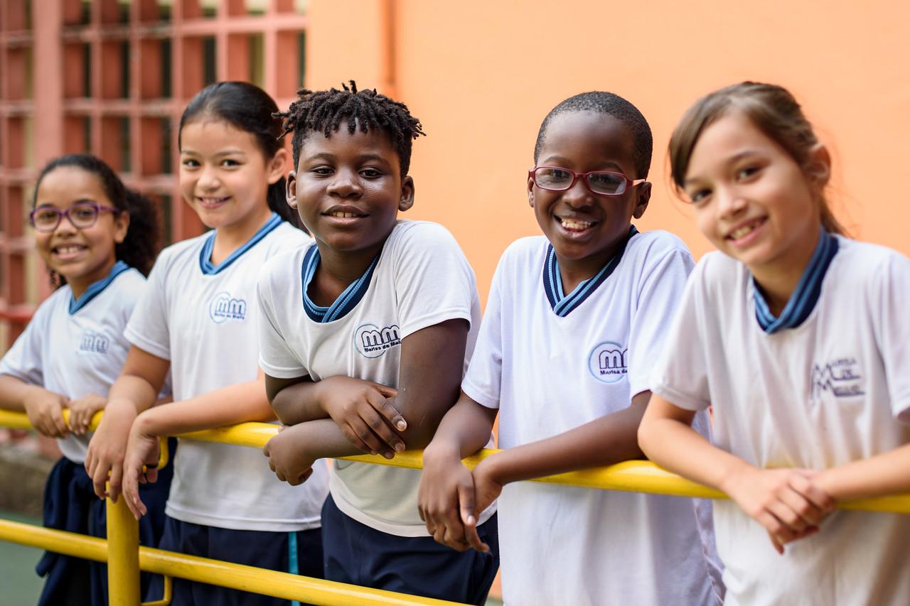 alunos beneficiados pelo projeto Parceiros da Educação