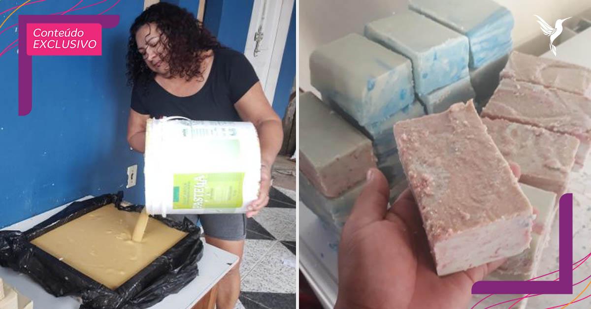Dona de casa coleta óleo e gordura para transformar em sabão no Macapá 1