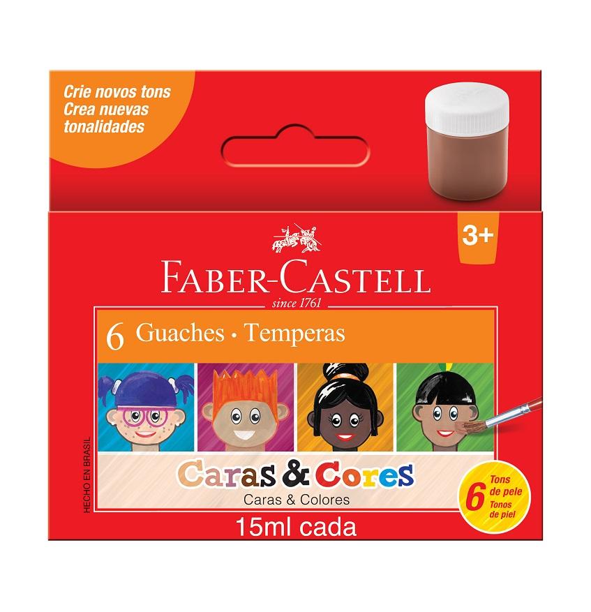 Faber-Castell produtos vários tons de pele