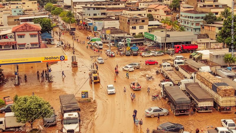 imagem da cidade Iconha do ES pós-chuva