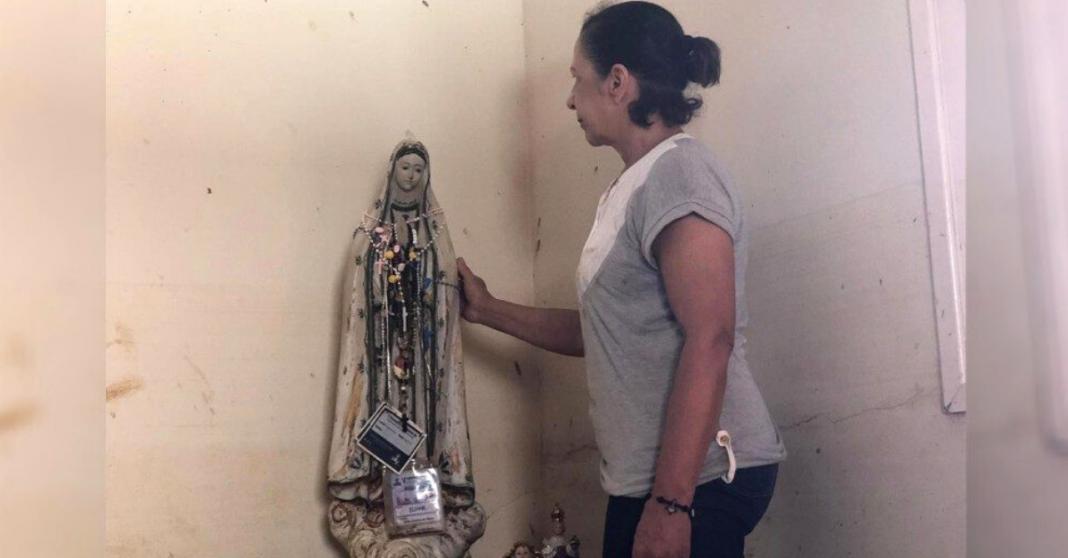 Moradores se emocionam com imagem de santa intacta após enchente em Iconha (ES)