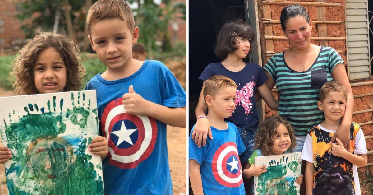 Em vídeo fofo, menino vende 'obra de arte' da irmã de 4 anos para construir sua casa