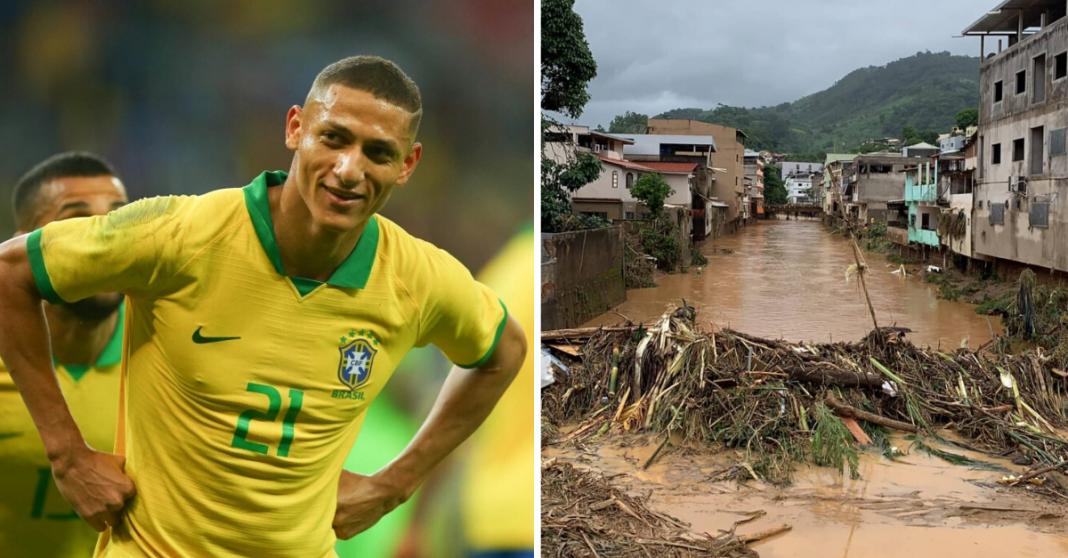 Jogador da seleção brasileira ajuda vítimas das chuvas no Espírito Santo