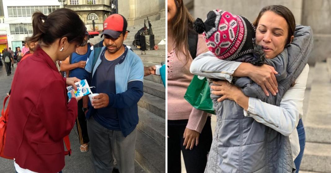 Voluntários levam café da manhã para pessoas em situação de rua em SP 3