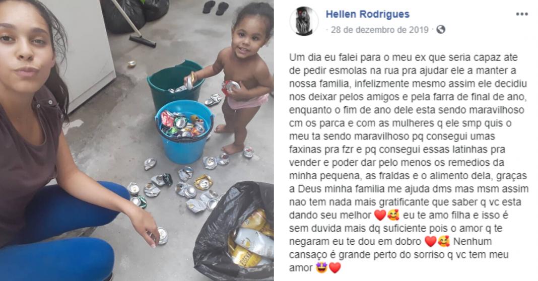 """Jovem recebe apoio de internautas após desabafar que ex-marido escolheu a """"farra"""" ao invés da família"""