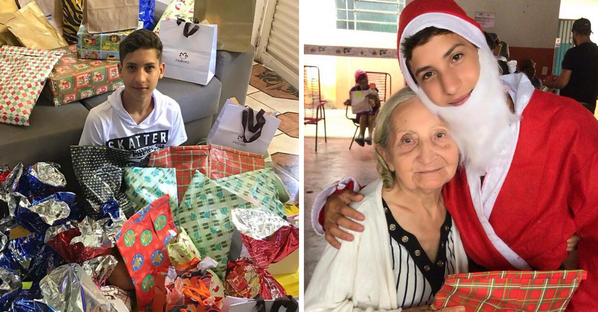 Adolescente mobiliza milhares de pessoas para não deixar idosos sem presentes de Natal 2