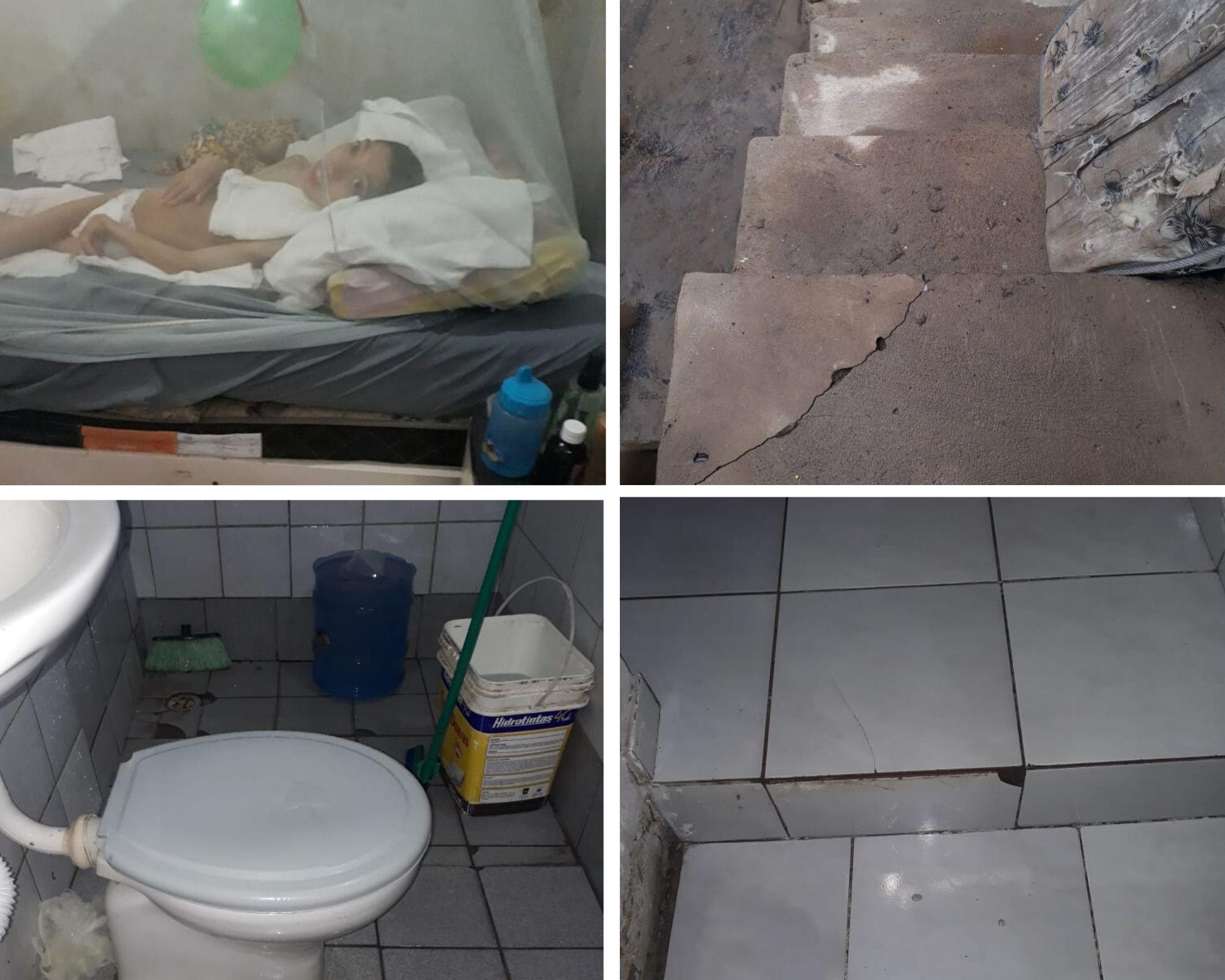 fotos da casa da mãe abandonada por ter filho especial