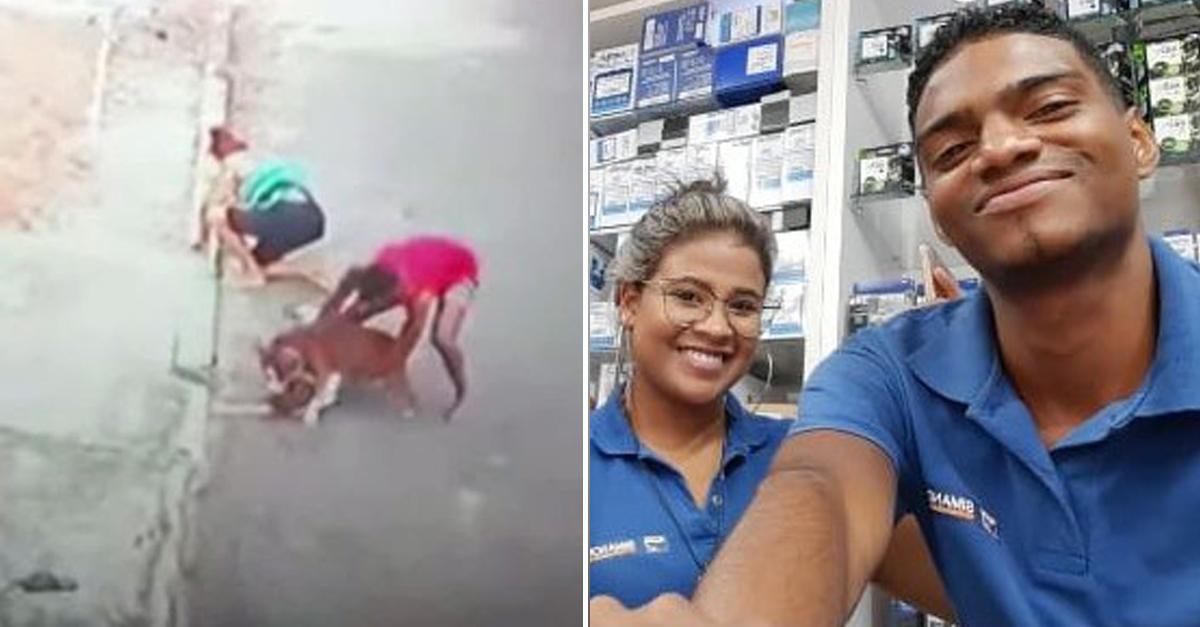 Rapaz que salvou criança de ataque de pit bull ganha emprego 2