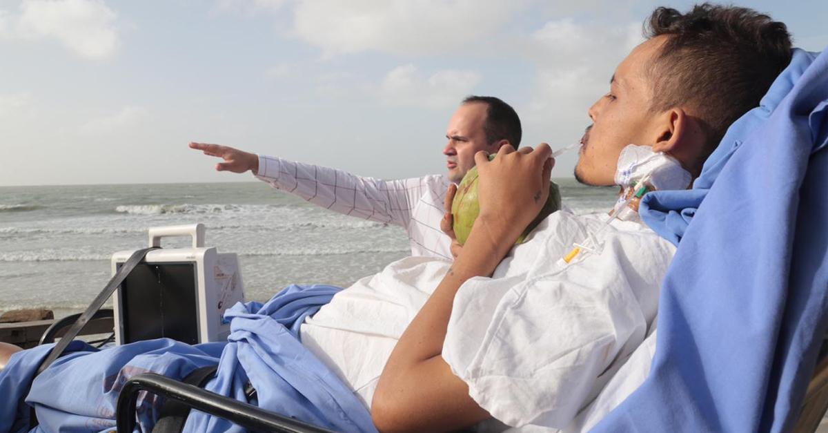 Hospital realiza último desejo de paciente terminal de conhecer o mar e emociona 3