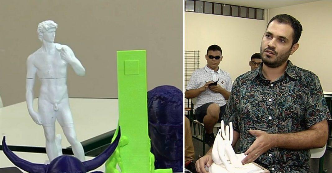 Professor de artes cria réplicas 3D de monumentos para dar aulas a alunos cegos 1