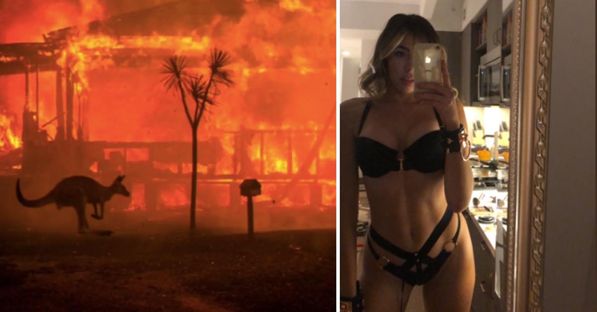 Modelo vende nudes e arrecada milhões para ajudar a combater incêndios na Austrália 1