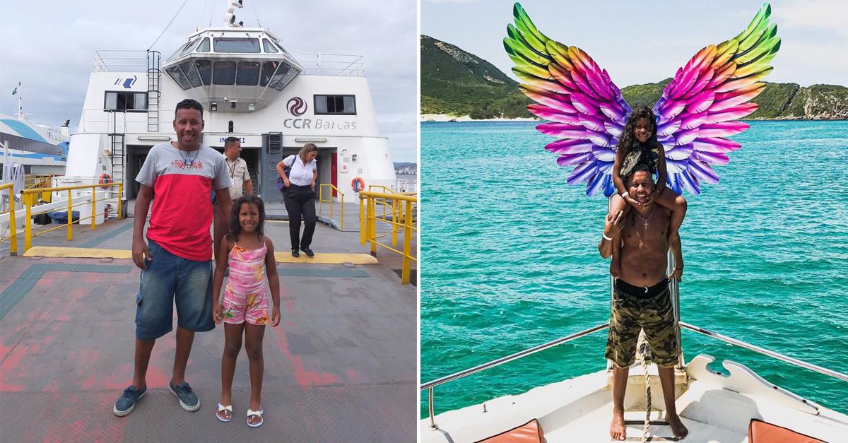Pai que realizou sonho da filha de andar de barco ganha passeio completo por Arraial do Cabo 1
