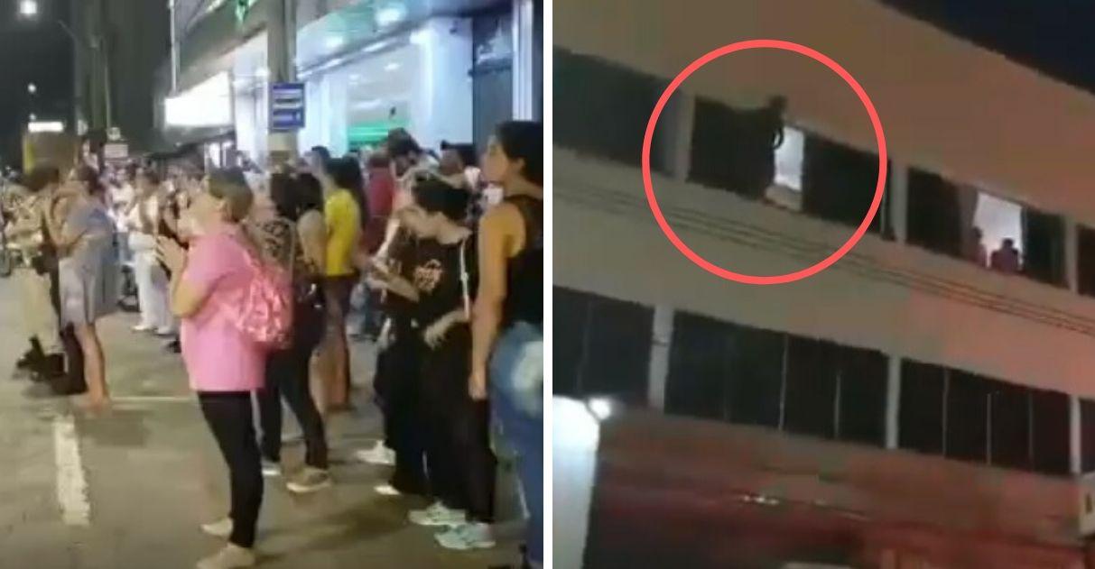 multidão louvor convence jovem desistir suicídio