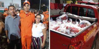 bombeiro primeiro salário cestas básicas famílias carentes