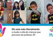 Projeto Mão 3D próteses para crianças