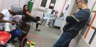 Médico compra chuteira para menino ferido prego