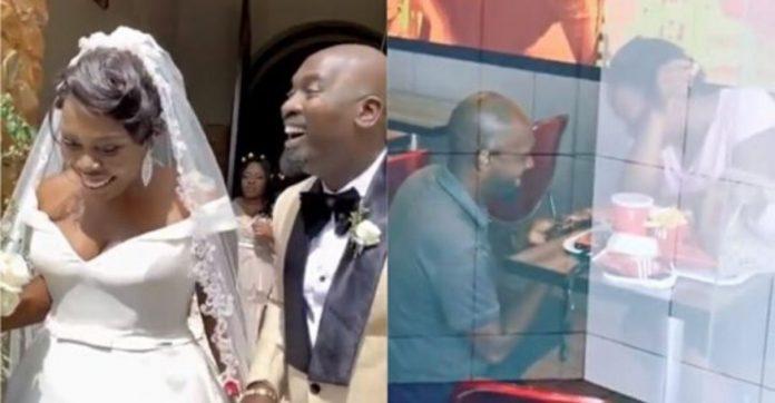 Casal humilhado por pedido simples no KFC ganha casamento dos sonhos