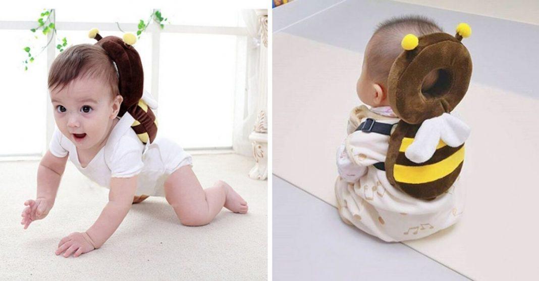 Mochilas em forma de animais protegem cabeça do bebê e são super fofas 1