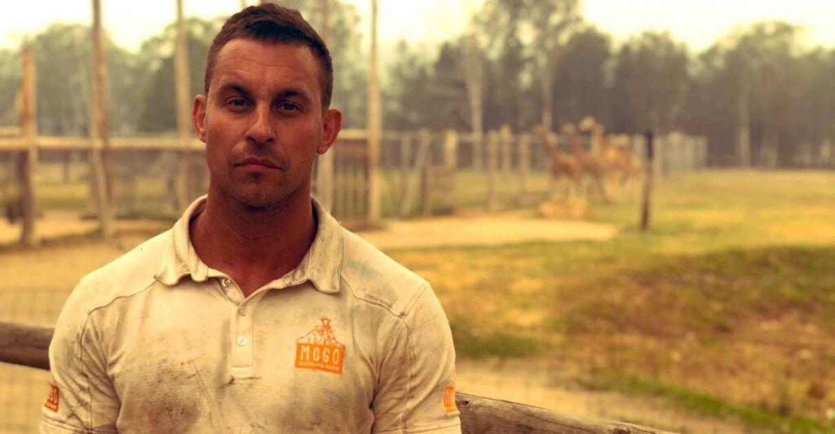 diretor zoológico leva para casa animais resgatados incêndios austrália