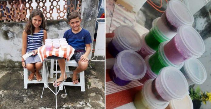 Crianças vendem slimes para alimentar cães em situação de rua 1