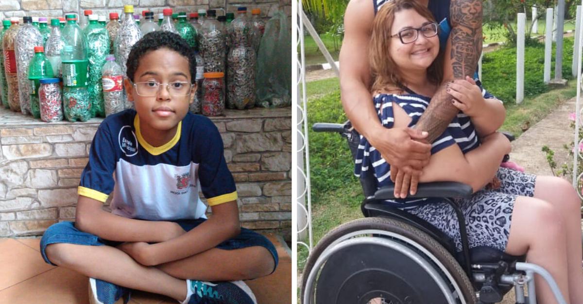 Aluno junta lacre de latinhas para comprar cadeira de rodas motorizada para professora 6