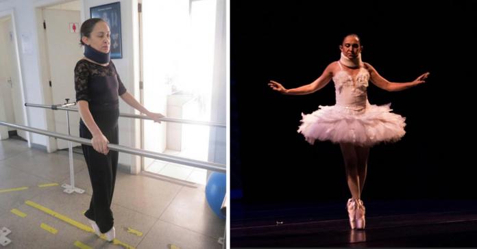 Bailarina com síndrome de Arnold Chiari supera pescoço fixo e apresenta lindo espetáculo 1