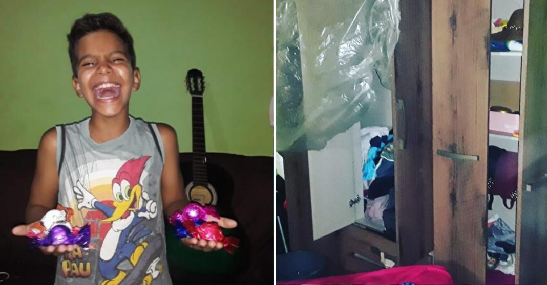 Casa de garoto humilhado por vender bombons é furtada e internautas criam vaquinha