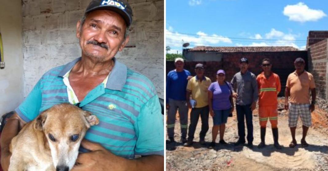 Com vaquinha do Razões, pedreiro reconstruirá casa que perdeu em incêndio