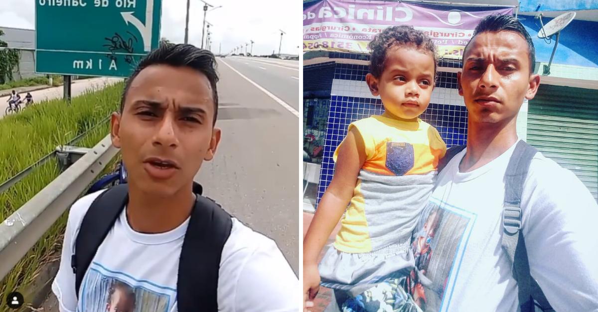 Pai que pedalou 35km para agendar exames do filho com doença sem cura cria vaquinha