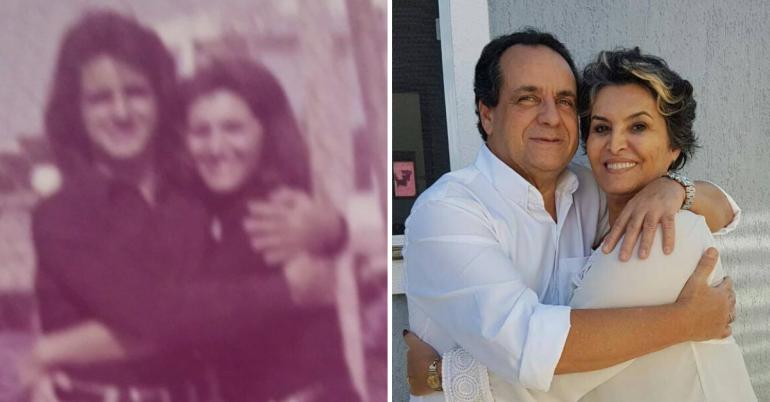 Fotos do casal que se casou depois de 46 anos de romper noivado