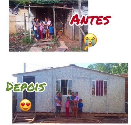 Veja antes e depois das casas reformadas pela EcoLar.