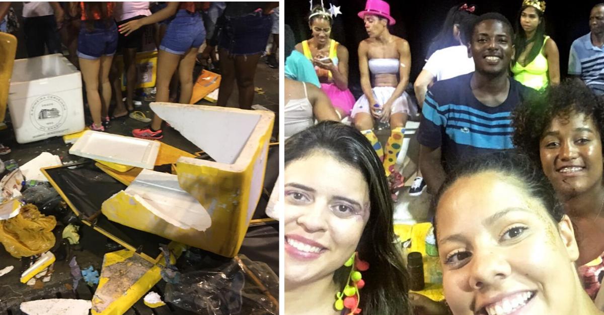 Ambulantes perdem tudo em tumulto no carnaval e desconhecidos cobrem prejuízo 3