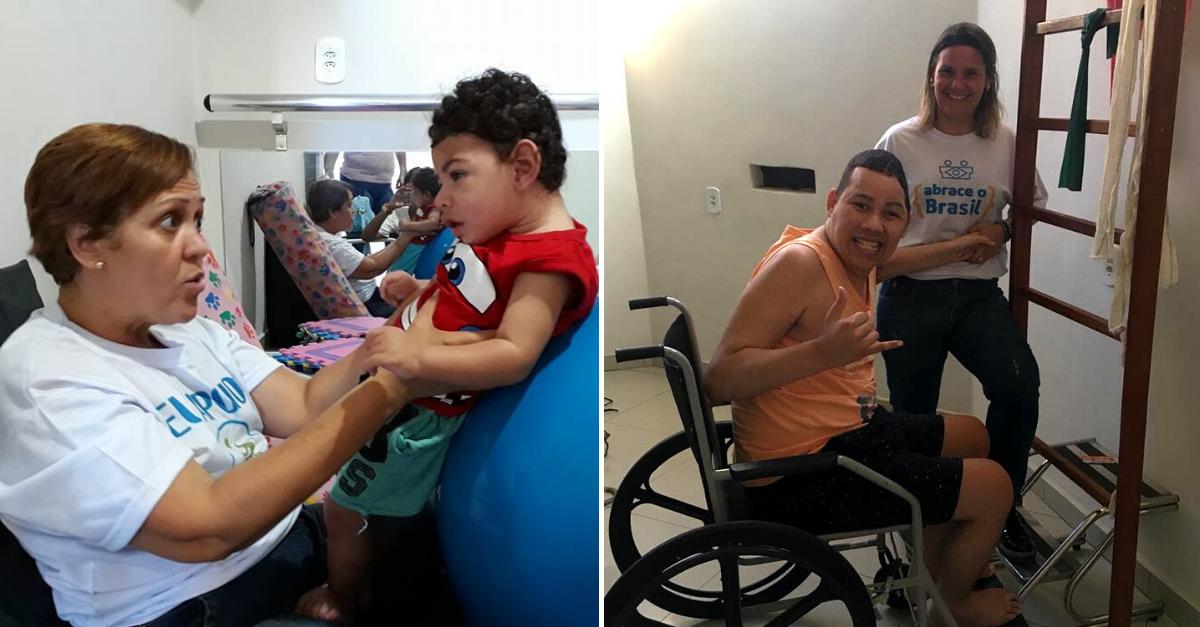 Fisioterapeuta chora ao ver menino dando primeiros passos sozinho; assista 1