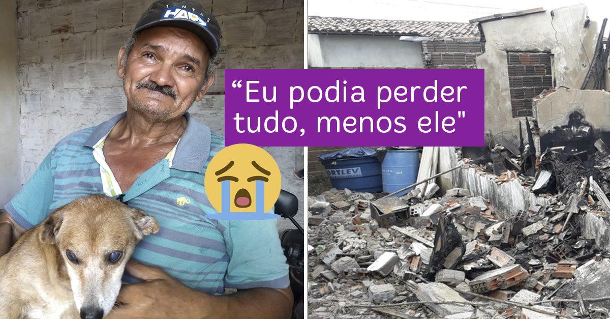 Com vaquinha do Razões, pedreiro reconstruirá casa que perdeu em incêndio ao lado de seu cão 2