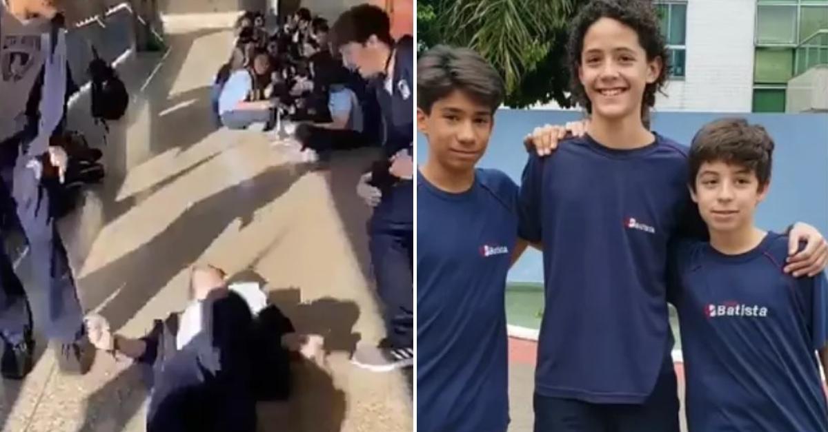 "Estudantes gravam vídeos para alertar sobre os perigos do ""desafio da rasteira"" 3"
