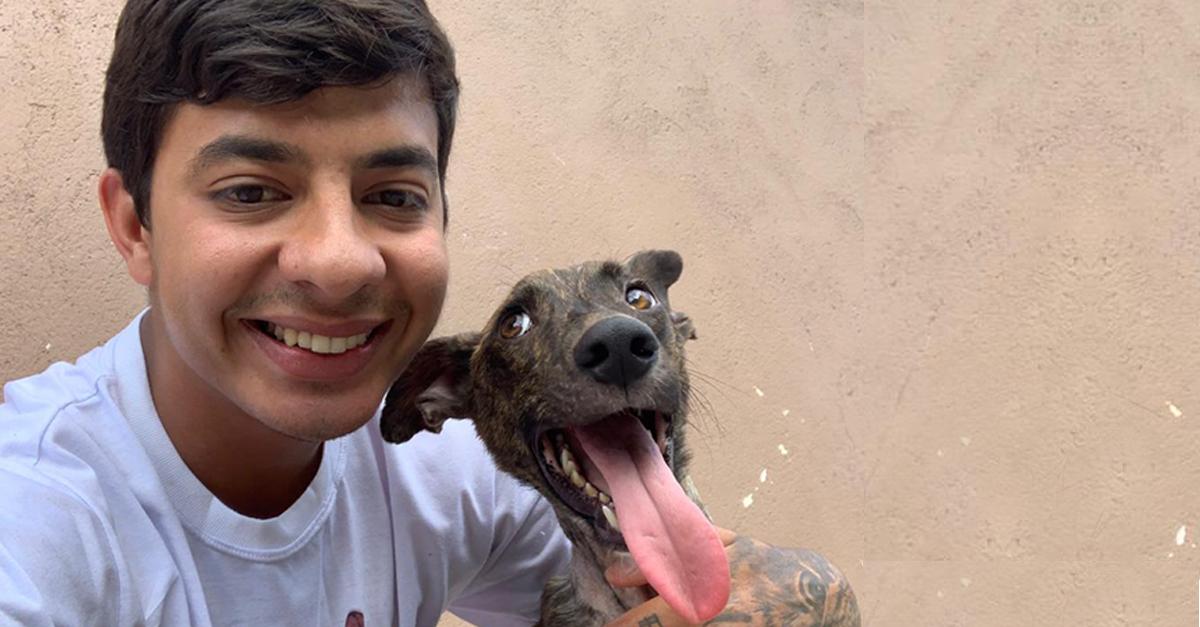 Mulher adota cão em terminal de ônibus e motorista permite que ela o leve para casa 2