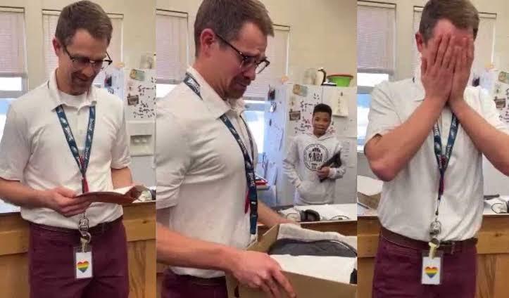 Estudantes compram par de tênis novos para professor roubado
