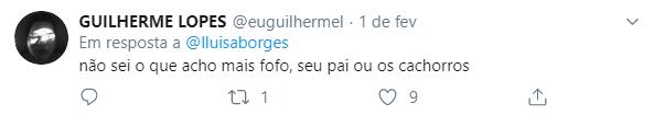 print de comentários do twitter @lluisaborges