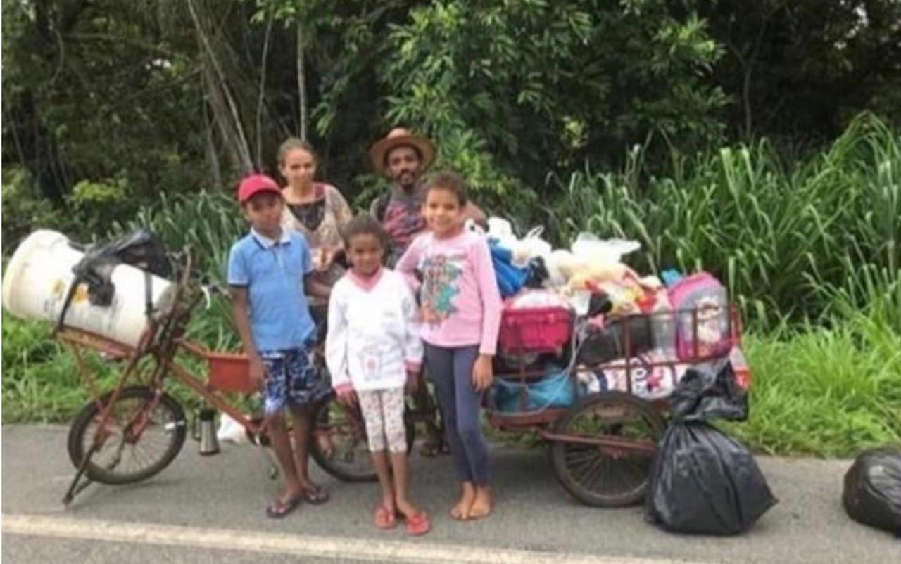 Família andaria quatro mil km ganha passagens de ônibus
