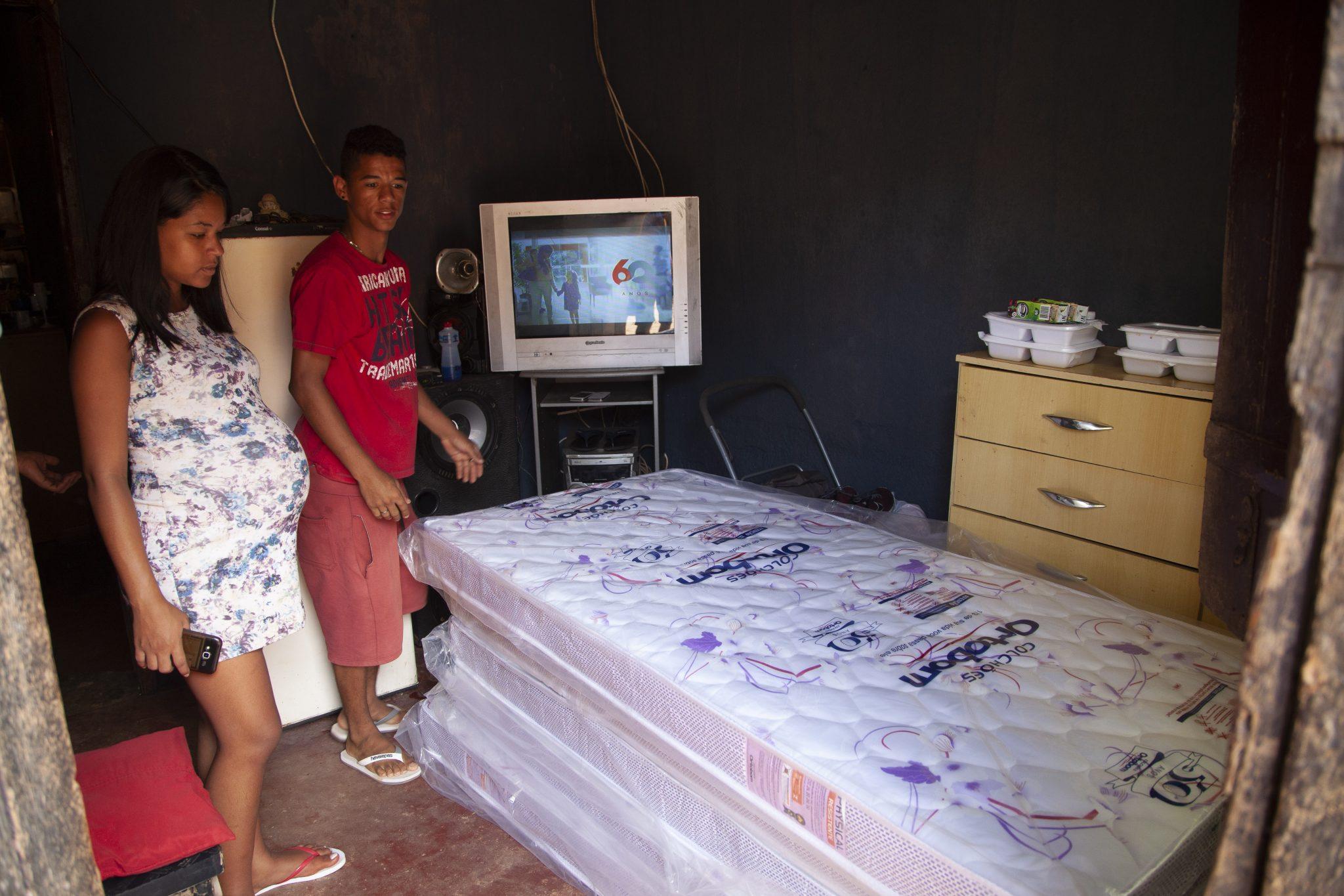morador que ganhou colchão da Ortobom