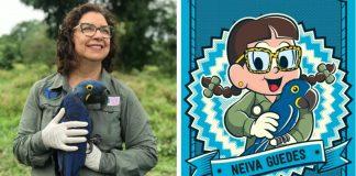 Bióloga salvou Arara Azul extinção vira personagem Turma da Mônica